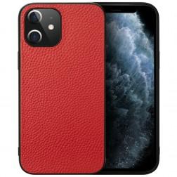 """Deluxe Leather"" dėklas - raudonas (iPhone 12 Mini)"