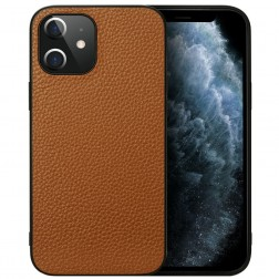 """Deluxe Leather"" dėklas - rudas (iPhone 12 Mini)"