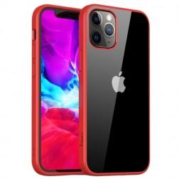 """""""IPAKY"""" Royal dėklas - skaidrus, raudonas (iPhone 12 Mini)"""