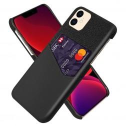 """""""KSQ"""" Shell dėklas su kišenėle - juodas (iPhone 12 Mini)"""