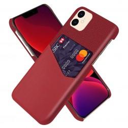 """""""KSQ"""" Shell dėklas su kišenėle - raudonas (iPhone 12 Mini)"""