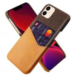 """""""KSQ"""" Shell dėklas su kišenėle - rudas (iPhone 12 Mini)"""
