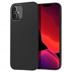 """""""Lenuo"""" kieto silikono (TPU) dėklas - juodas (iPhone 12 Mini)"""