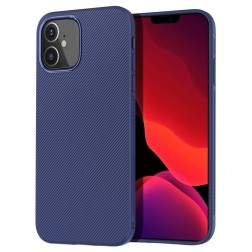 """""""Lenuo"""" kieto silikono (TPU) dėklas - mėlynas (iPhone 12 Mini)"""