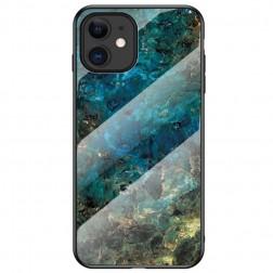 """""""Marble"""" kieto silikono (TPU) dėklas - mėlynas (iPhone 12 Mini)"""