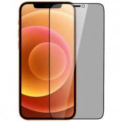 """""""Nillkin"""" Tempered Glass juodas apsauginis ekrano stiklas 0.26 mm - privatumo (iPhone 12 Mini)"""