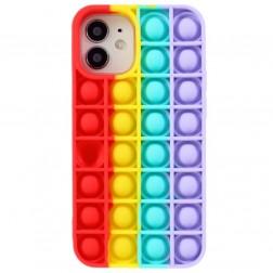 """Popit"" Bubble minkšto silikono (TPU) dėklas - raudonas (iPhone 12 Mini)"