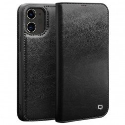 """""""QIALINO"""" atverčiamas dėklas - juodas (iPhone 12 Mini)"""