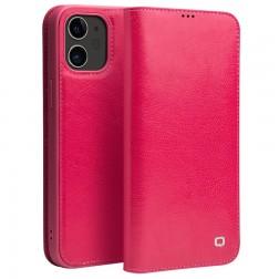 """""""QIALINO"""" atverčiamas dėklas - rožinis (iPhone 12 Mini)"""
