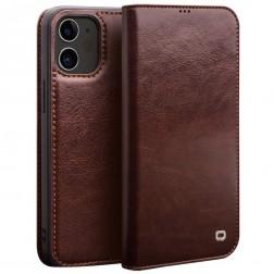 """""""QIALINO"""" atverčiamas dėklas - rudas (iPhone 12 Mini)"""