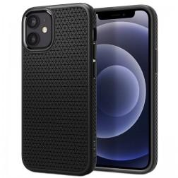 """""""Spigen"""" Liquid Air dėklas - juodas (iPhone 12 Mini)"""