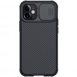 """""""Nillkin"""" CamShield dėklas - juodas (iPhone 12 / 12 Pro)"""