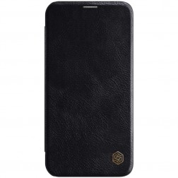 """""""Nillkin"""" Qin atverčiamas dėklas - juodas (iPhone 12 / 12 Pro)"""