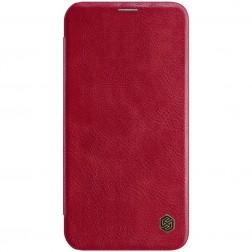 """""""Nillkin"""" Qin atverčiamas dėklas - raudonas (iPhone 12 / 12 Pro)"""