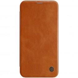 """""""Nillkin"""" Qin atverčiamas dėklas - rudas (iPhone 12 / 12 Pro)"""