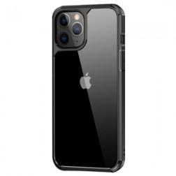 """""""IPAKY"""" Royal dėklas - skaidrus, juodas (iPhone 12 / 12 Pro)"""