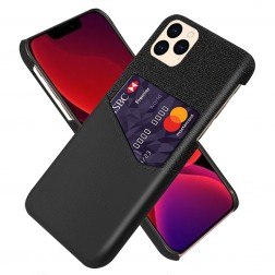 """""""KSQ"""" Shell dėklas su kišenėle - juodas (iPhone 12 / 12 Pro)"""