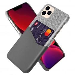 """""""KSQ"""" Shell dėklas su kišenėle - pilkas (iPhone 12 / 12 Pro)"""