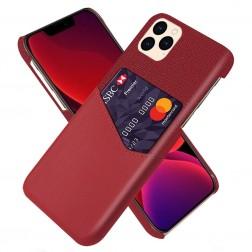 """""""KSQ"""" Shell dėklas su kišenėle - raudonas (iPhone 12 / 12 Pro)"""