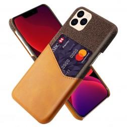 """""""KSQ"""" Shell dėklas su kišenėle - rudas (iPhone 12 / 12 Pro)"""