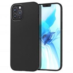 """""""Lenuo"""" kieto silikono (TPU) dėklas - juodas (iPhone 12 / 12 Pro)"""