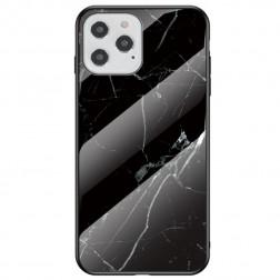 """""""Marble"""" kieto silikono (TPU) dėklas - juodas (iPhone 12 / 12 Pro)"""