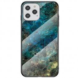 """""""Marble"""" kieto silikono (TPU) dėklas - mėlynas (iPhone 12 / 12 Pro)"""
