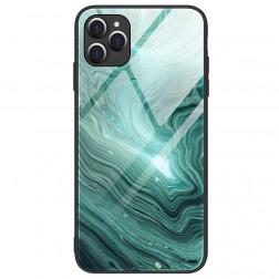 """""""Marble"""" Skin kieto silikono (TPU) dėklas - žalias (iPhone 12 / 12 Pro)"""