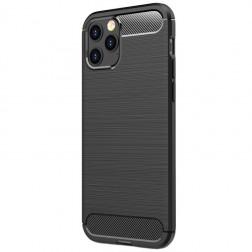 """""""Carbon"""" kieto silikono (TPU) dėklas - juodas (iPhone 12 Pro Max)"""