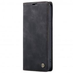 """""""CaseMe"""" Retro solidus atverčiamas dėklas - juodas (iPhone 12 Pro Max)"""