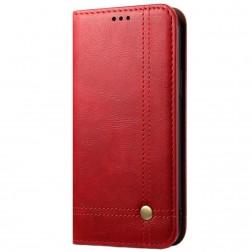 """""""Deluxe"""" atverčiamas dėklas - raudonas (iPhone 12 Pro Max)"""