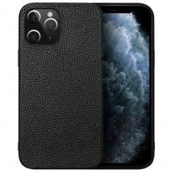 """Deluxe Leather"" dėklas - juodas (iPhone 12 Pro Max)"