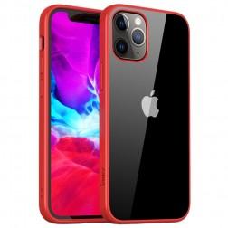 """""""IPAKY"""" Royal dėklas - skaidrus, raudonas (iPhone 12 Pro Max)"""