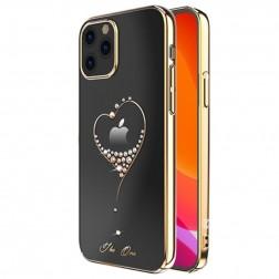 """""""Kingxbar"""" Love Swarovski dėklas - auksinis (iPhone 12 Pro Max)"""