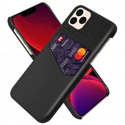 """""""KSQ"""" Shell dėklas su kišenėle - juodas (iPhone 12 Pro Max)"""