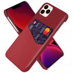 """""""KSQ"""" Shell dėklas su kišenėle - raudonas (iPhone 12 Pro Max)"""