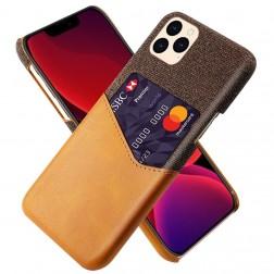 """""""KSQ"""" Shell dėklas su kišenėle - rudas (iPhone 12 Pro Max)"""