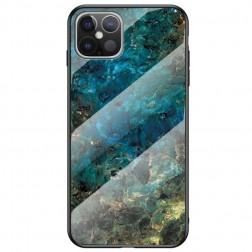 """""""Marble"""" kieto silikono (TPU) dėklas - mėlynas (iPhone 12 Pro Max)"""