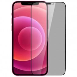 """""""Nillkin"""" Tempered Glass juodas apsauginis ekrano stiklas 0.26 mm - privatumo (iPhone 12 Pro Max)"""