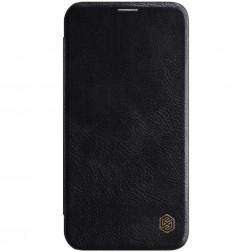 """""""Nillkin"""" Qin atverčiamas dėklas - juodas (iPhone 12 Pro Max)"""