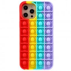 """""""Popit"""" Bubble minkšto silikono (TPU) dėklas - raudonas (iPhone 12 Pro Max)"""