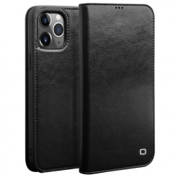 """""""QIALINO"""" atverčiamas dėklas - juodas (iPhone 12 Pro Max)"""