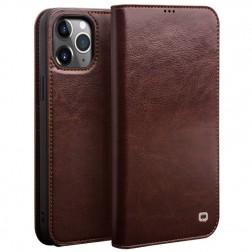 """""""QIALINO"""" atverčiamas dėklas - rudas (iPhone 12 Pro Max)"""
