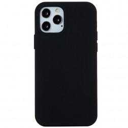 Kieto silikono (TPU) dėklas - juodas (iPhone 12 Pro Max)