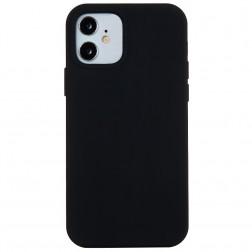Kieto silikono (TPU) dėklas - juodas (iPhone 12 Mini)