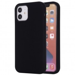 """""""Shell"""" MagSafe kieto silikono (TPU) dėklas - juodas (iPhone 12 Mini)"""