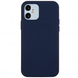 Kieto silikono (TPU) dėklas - mėlynas (iPhone 12 Mini)