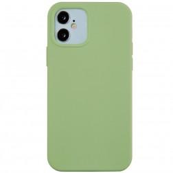 Kieto silikono (TPU) dėklas - žalias (iPhone 12 Mini)