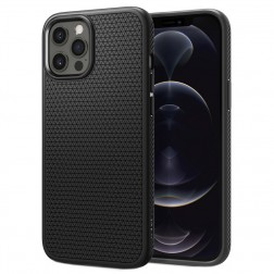 """""""Spigen"""" Liquid Air dėklas - juodas (iPhone 12 Pro Max)"""