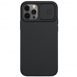 """""""Nillkin"""" CamShield MagSafe dėklas - juodas (iPhone 12 / 12 Pro)"""